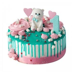Торт Мишка со сладостями