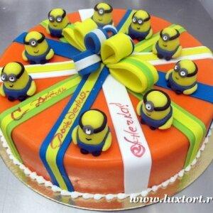 Торт Миньоны подарок (Гадкий Я)